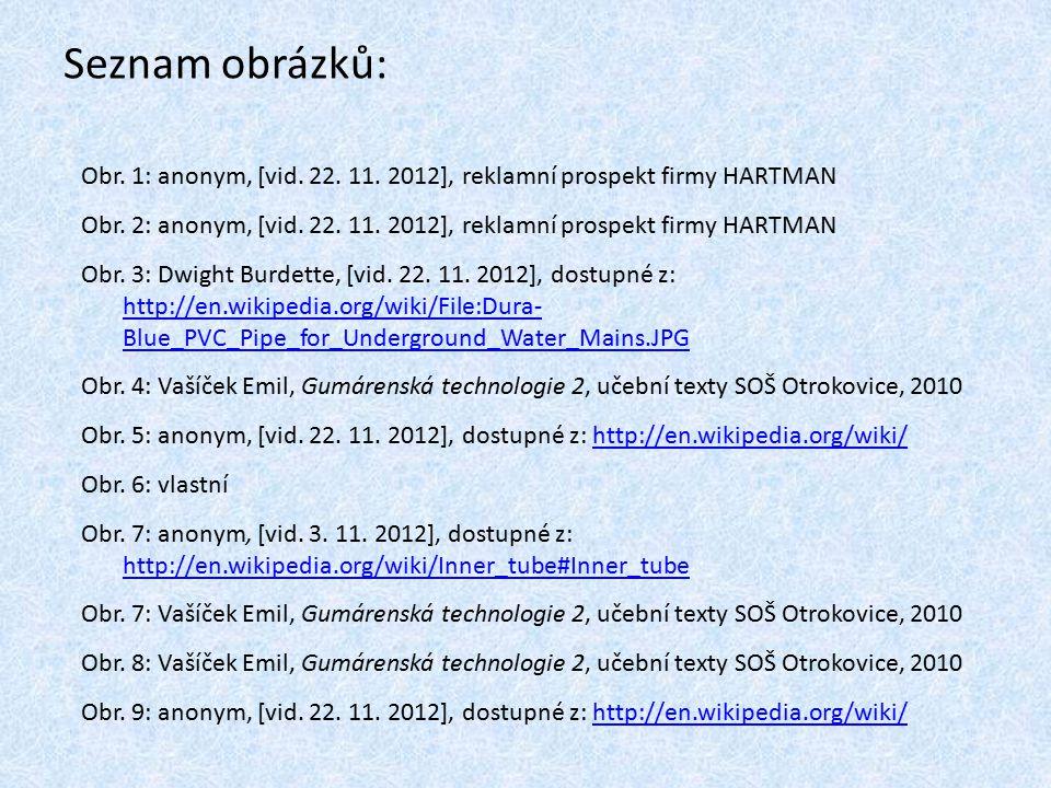 Seznam obrázků: Obr. 1: anonym, [vid. 22. 11. 2012], reklamní prospekt firmy HARTMAN.